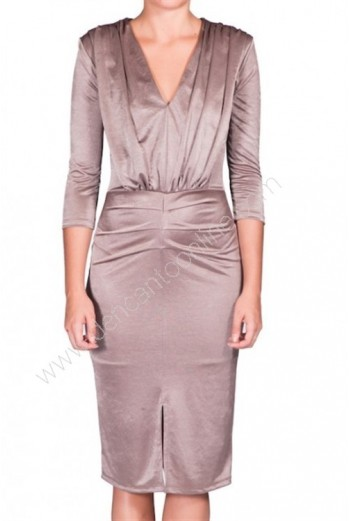 vestido brillo corto m/larga
