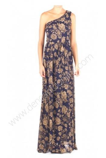 vestido asimetrico floreado